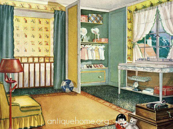 Antique Home - 1920 Nursery Design | Vintage 1920 baby\'s roo… | Flickr