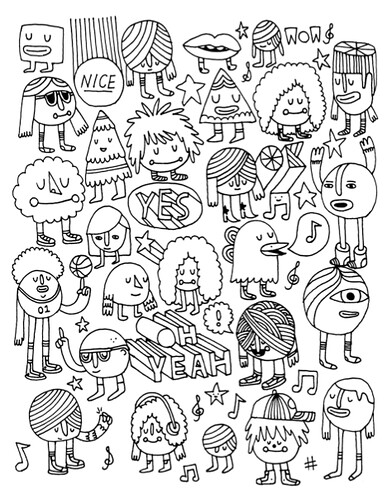 unused coloring book page by andy j miller - The Indie Rock Coloring Book