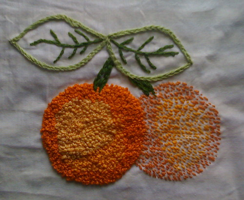 French Knot Oranges | by Katherine Coby