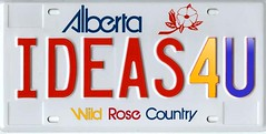 ideas 4 U - personalized license plate of Chief ideas Revolutionary | by k-ideas