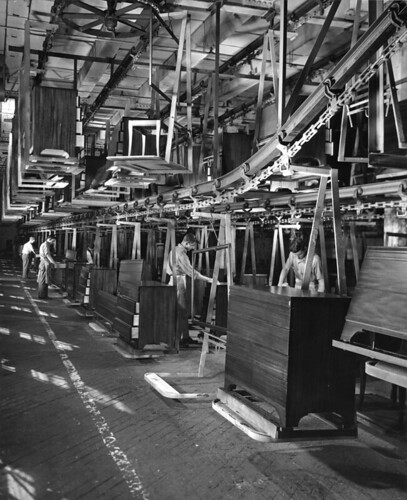 Furniture assembly line caption this 2 1 2 mile long for Furniture history society