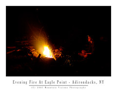 Evening Fire At Eagle Point | by Mountain Visions
