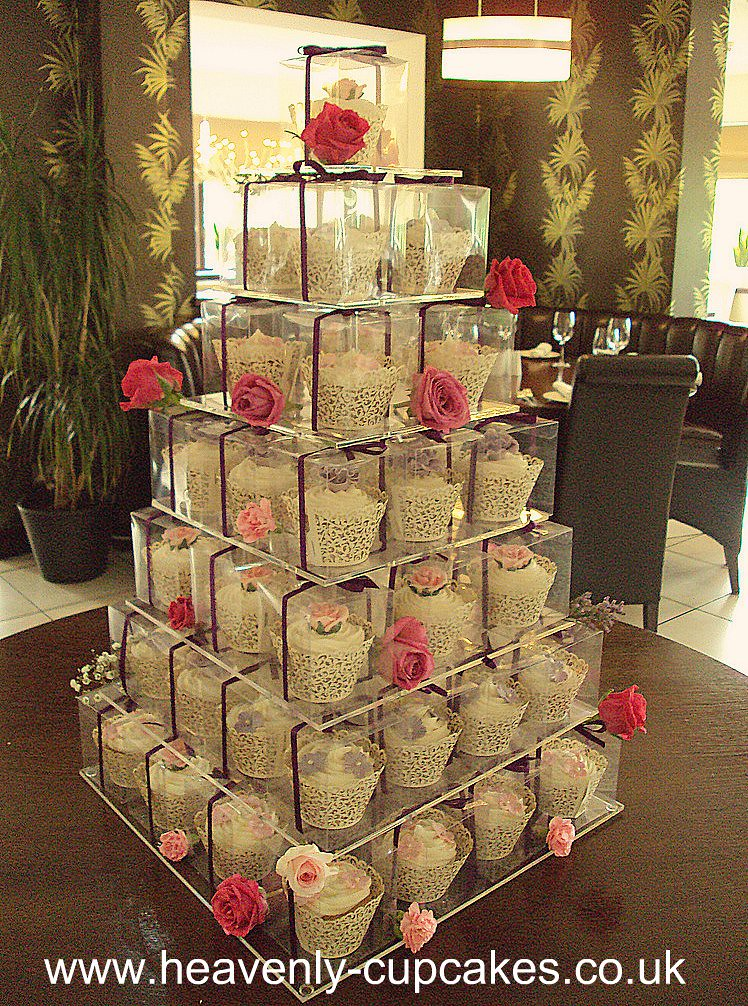 A Tower Of Individually Boxed Wedding Cupcakes Nottingham Flickr