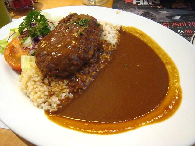 Hamburger and curry