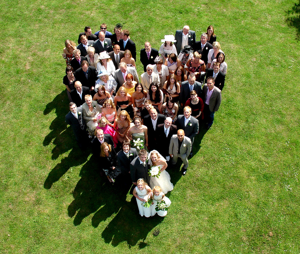 Aerialphotographyforyou Aerial View Of Wedding Party