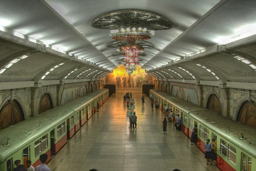 Pyongyang Metro, North Korea | by Wooolf
