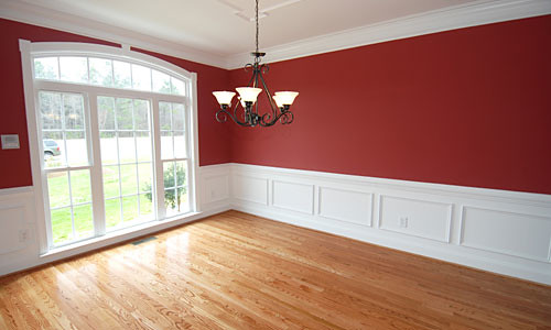 Red dining room paint this photo is of a dining room - Painting options for a living room ...