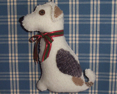 Fox Terrier / White Lab Mix Dog Ornament | leafpeople | Flickr
