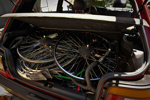 Disassembled Bikes in the Trunk | by goingslowly