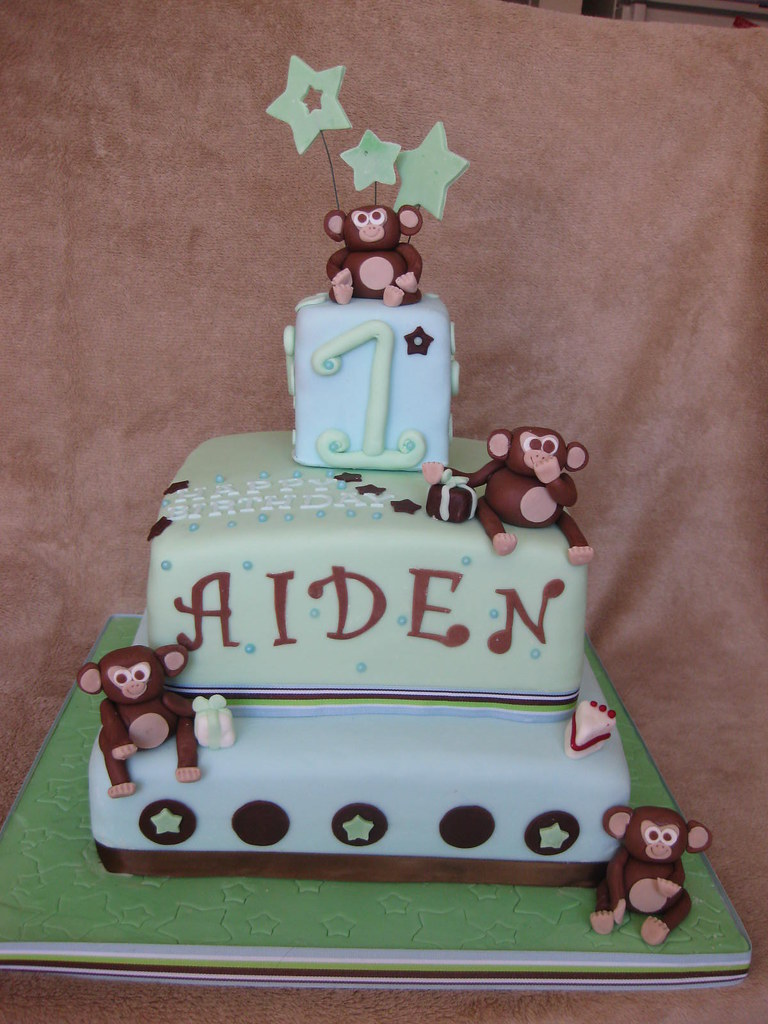 Super Monkey 1St Birthday Cake Customcakesbyjenz Ca Another Flickr Personalised Birthday Cards Petedlily Jamesorg