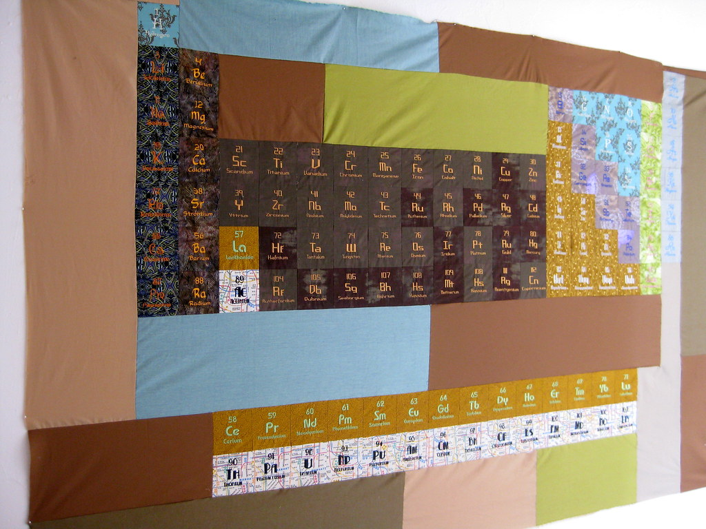 Periodic table of elements quilt all digitally embroidered flickr periodic table of elements quilt by alyse anderson urtaz Gallery