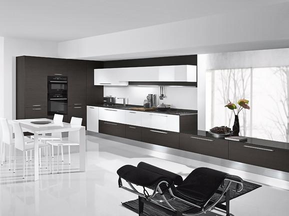 Cucina in rovere grigio e bianco | Cucina angolare moderna f… | Flickr