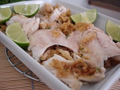 Salt-baked fish stuffed with onion farofa / Peixe assado no sal recheado com farofa de cebola | by Patricia Scarpin