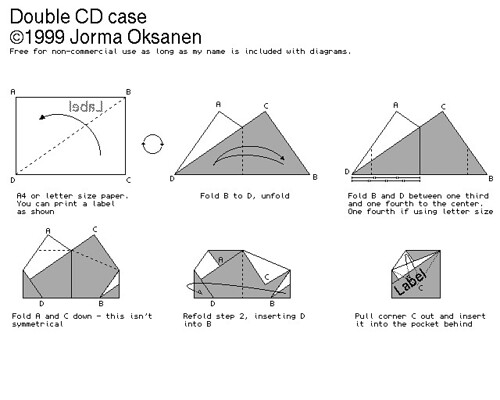 diy double cd case made of paper easy way to make your flickr