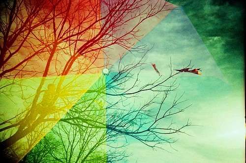 Rainbow Reaching for Kite Salvation | by Lomo-Cam