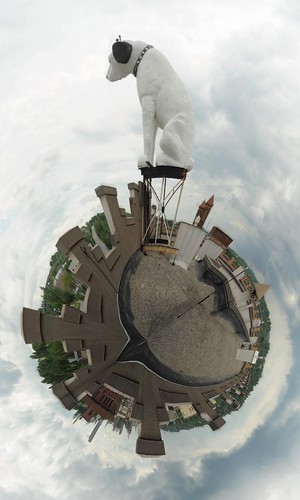 "Nipper ""His Master's Voice"" Polar Panorama, Albany NY 