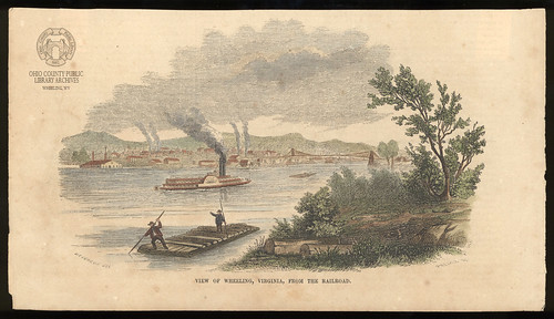 Engraving: 1854 View Of Wheeling, Virginia | by Ohio County Public Library