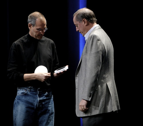 Steve Jobs and Paul Otellini | by acaben