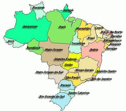 Mapa dos Estados Brasileiros Brazilian states map Flickr