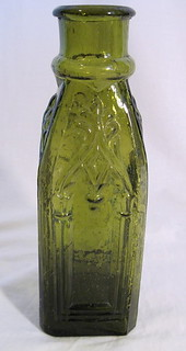 v2 Antique Green Cathedral Pickle Bottle 19th C | by wearitsatvintage