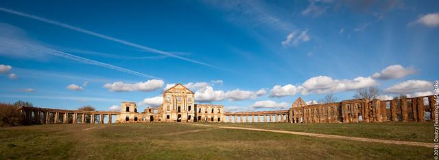 Ruzhany: Castle Ruins Panorama