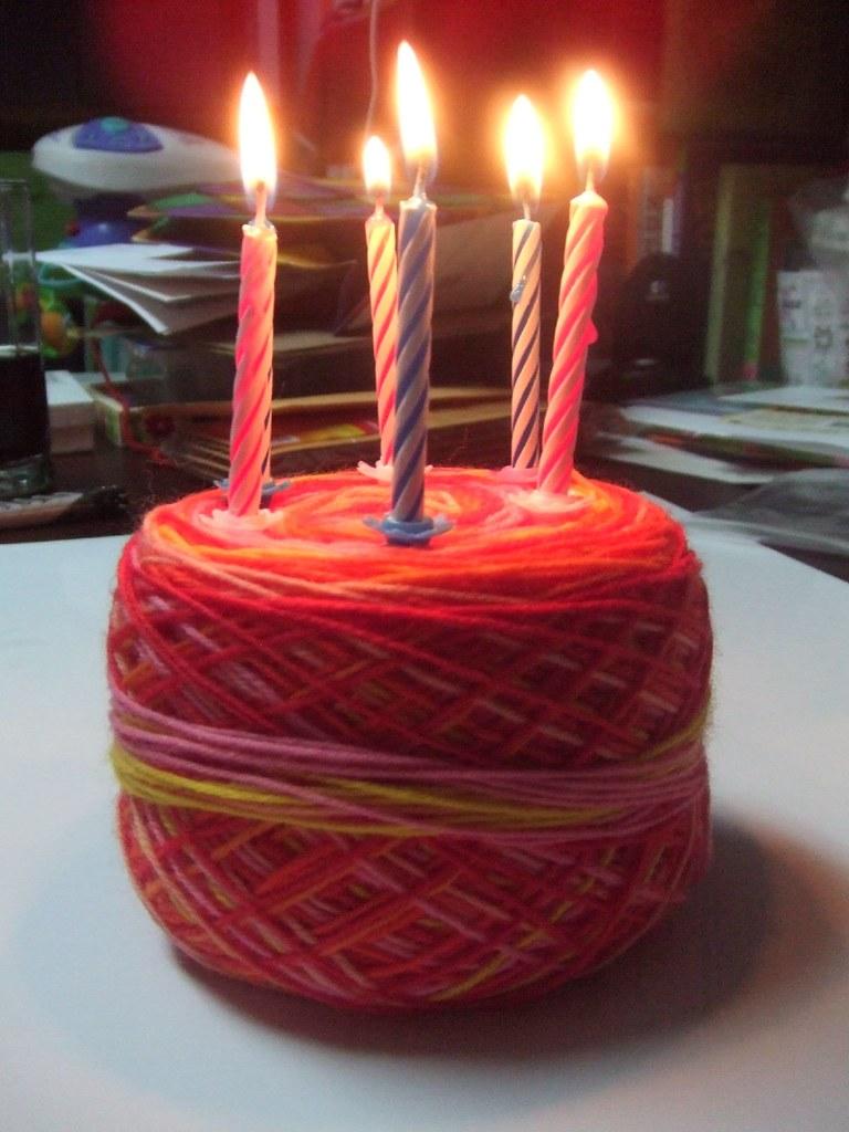 Yarn Birthday Cake Montrealmama Flickr
