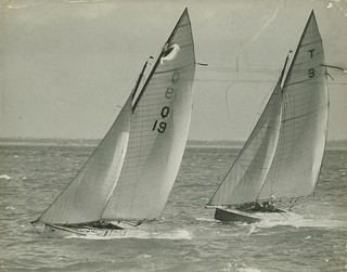 Sailboats competing on Moreton Bay, Brisbane | by State Library of Queensland, Australia