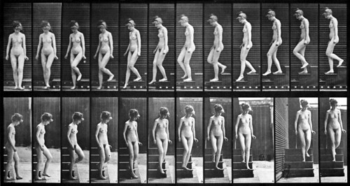 Eadweard Muybridge: ''Woman walking downstairs'', late 19th century | by Ramón Peco