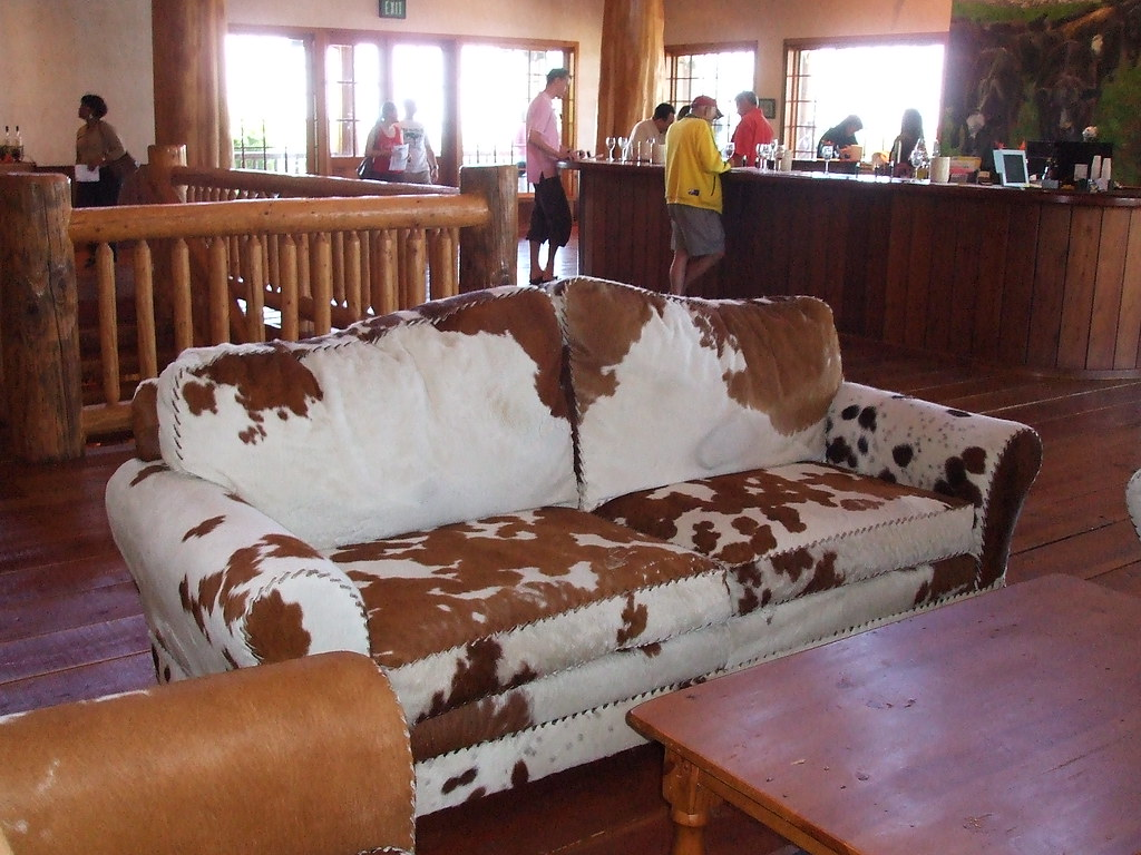 ... Cowhide Couch At Calif Winery | By Buckle1535