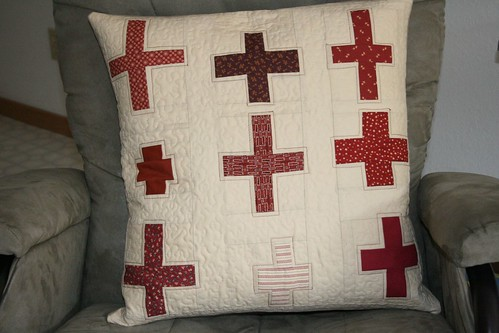 red cross pillow | by crazymomquilts