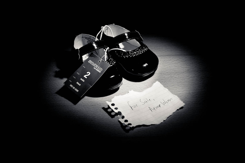 For sale: baby shoes, never worn. | Hemingway's six word sto… | Flickr