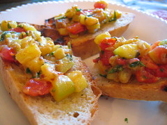 tomato and zucchini bruschetta | by tofu666