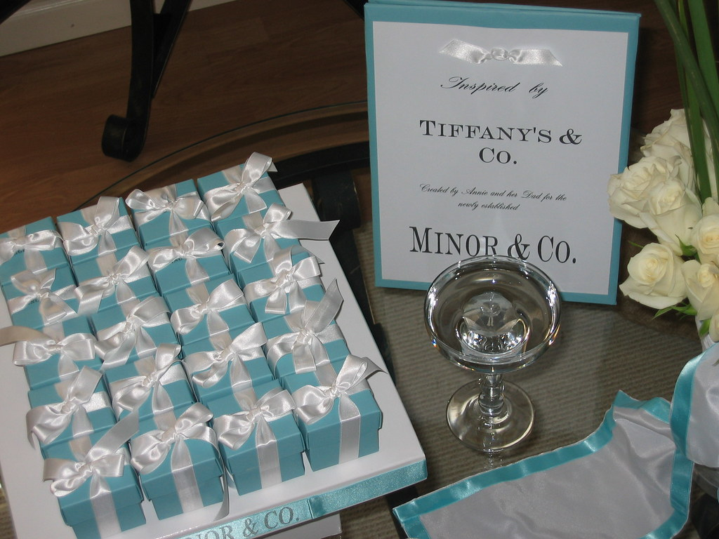 Our Wedding Favors Tiffany Boxes Whats A Wedding Without Flickr