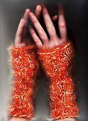 kim's orange cabley mitts | by -leethal-