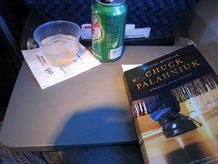 On the plane - thanks for the book, d! | by Boots in the Oven