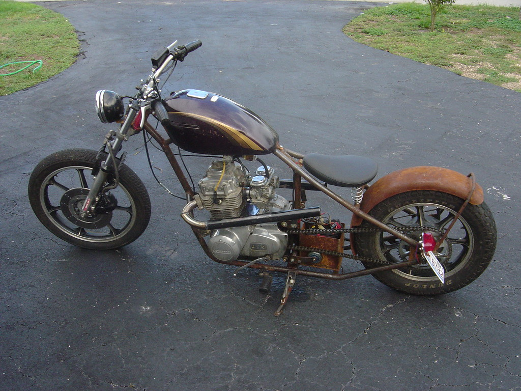Hardtail kz440 - Left | Hand made frame with a KZ400 neck, K… | Flickr