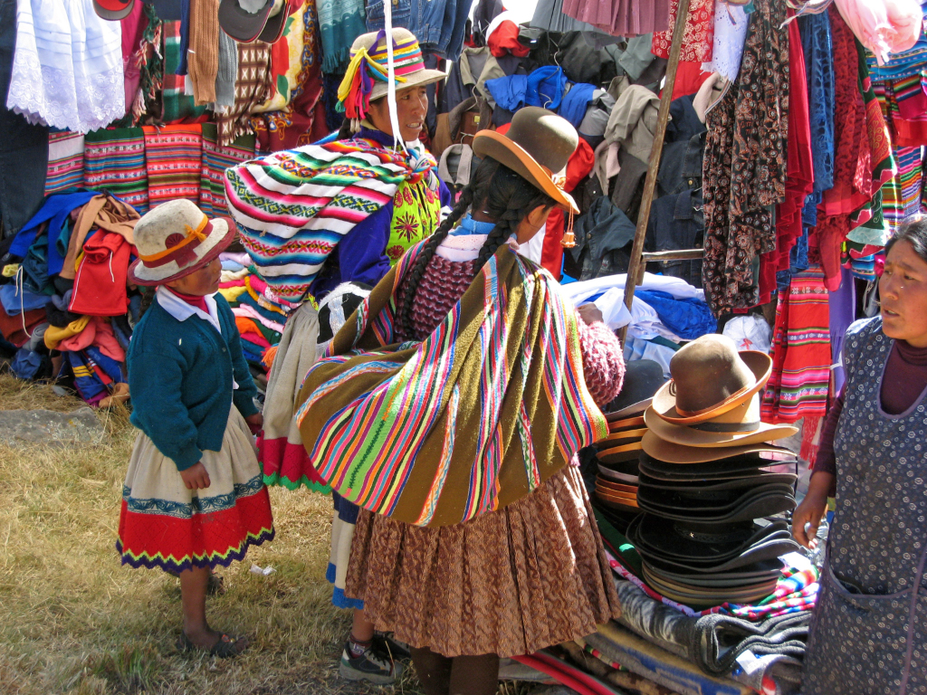 Buying hats at the fiesta
