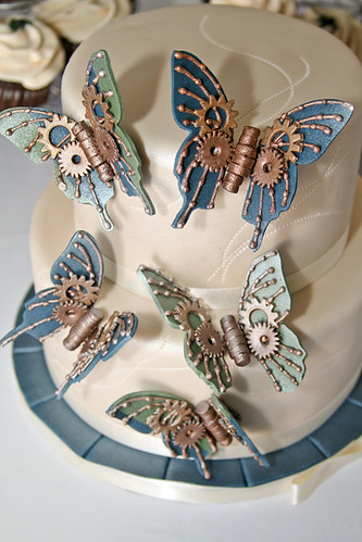 Steampunk inspired butterflies | by Gimme Some Sugar (vegas!)