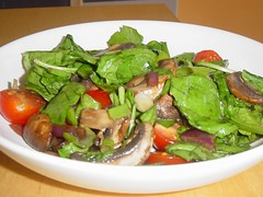Warm Spinach, Mushroom Salad | by rexipe