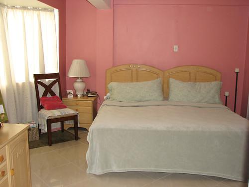 White Bedding Brown Room