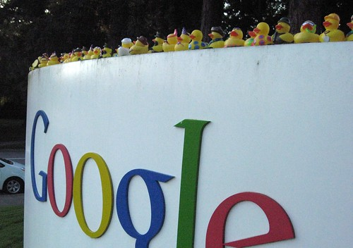 The duckies invade Google | by Yahoo Inc