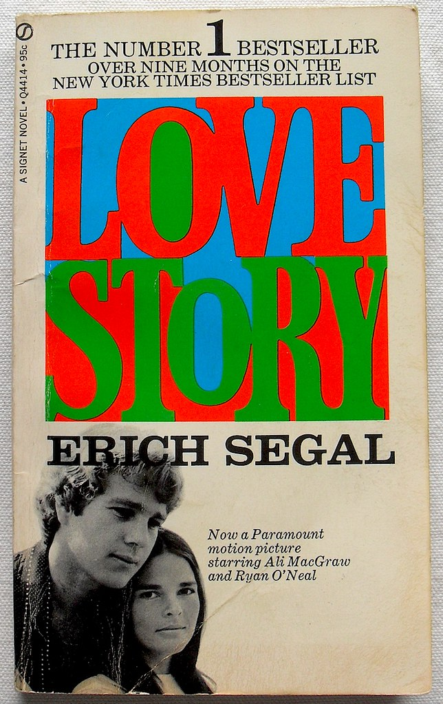 Love Story Eric Segal 1970 Paperback Novel Movie Book Ali Flickr