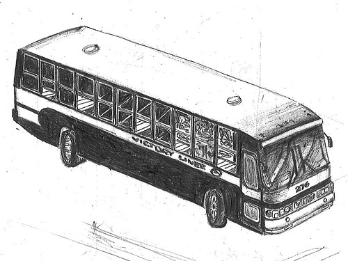 Bus Drawing of VLI in my Notebook | by pantranco_bus