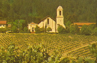 California Vineyard Wine Country Napa Valley Christian Brothers Mont La Salle Monastery and Winery Napa CA Mirro-Krome Card 6 Unsent 1 | by UpNorth Memories - Donald (Don) Harrison