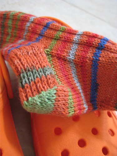 Socks with Crocs | by Twisted Knitter