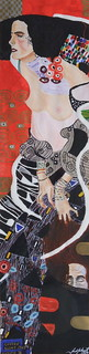 "After Gustav Klimt's ""Judith II"" 20.3 x 5 inches 