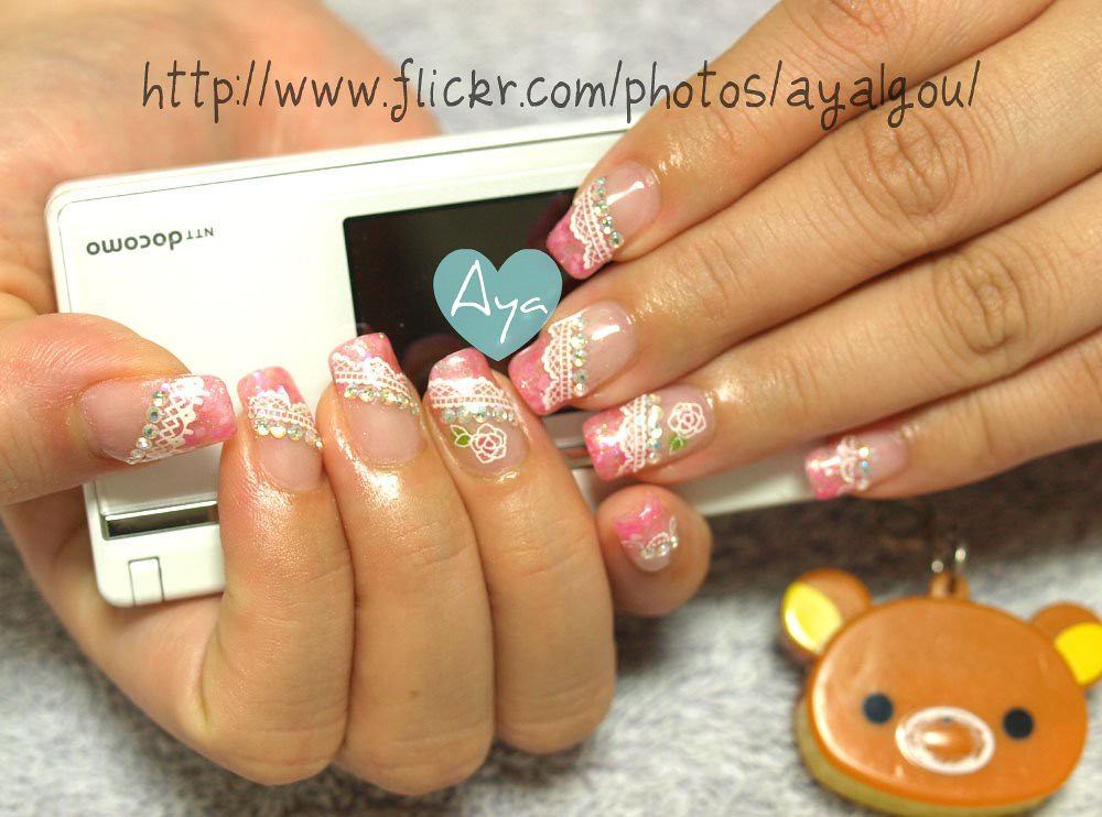 Japanese style girly gel nails | My client Her own nails Rem… | Flickr