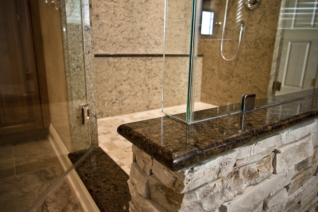 Cultured Stone Shower Wall | The entire bathroom was designe… | Flickr