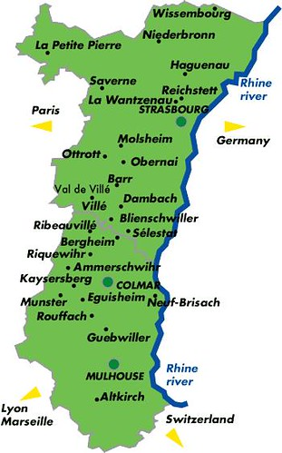 Alsace Region Map France Alsace Map Rodrigo JS Flickr