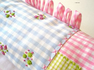 gingham, patchwork and rouleau loops | by contemporary embroidery